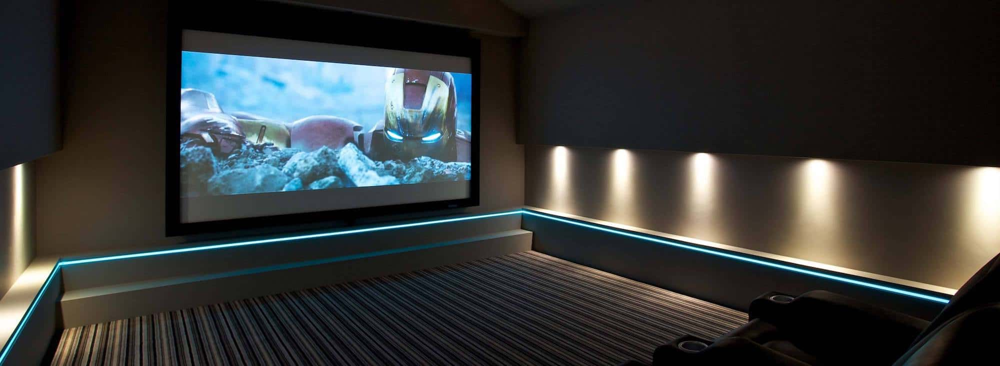 Iron Man Home Cinema Light Tape Strip Installation.